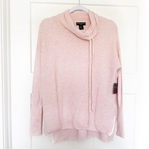 Cynthia Rowley Active Cowl Neck Ribbed Pullover XS